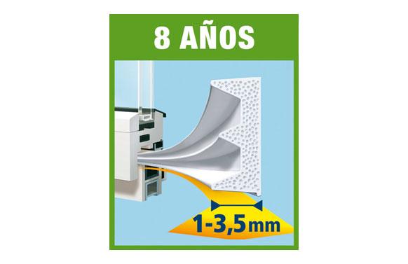 Tesamoll caucho perfil e blanco 25 m x 9 mm