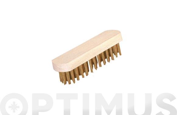 Cepillo manual sin mgo pua plana acero 6 hileras