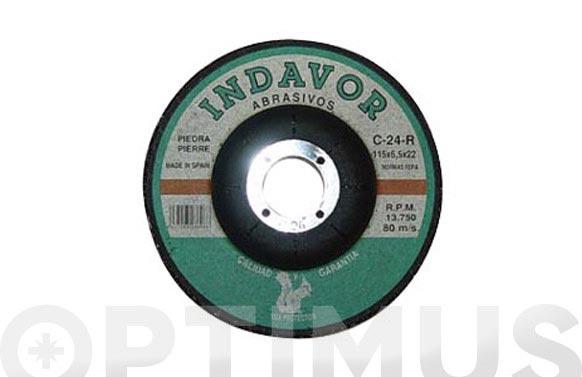 Disco carb.d/piedr.c24 indavor 115 x 6 x 22 s/d