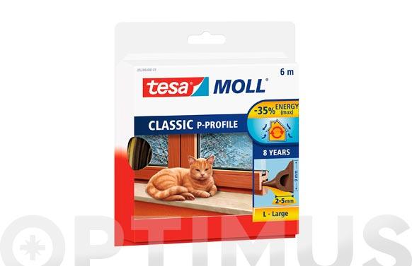 Tesamoll caucho perfil p marron 6 m x 9 mm