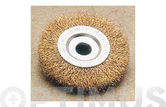 Cepillo disco pua latonada orificio 13 mm ø 75/0,30