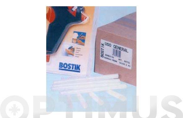 Adhesivo termofusible barra 5 kg ø 12 x 180 mm translucidas