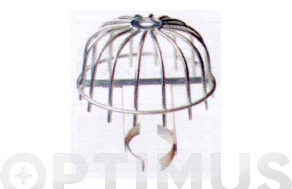 Colador azotea alambre negro bola entera con patas ø 200 mm (morrion para hojas)