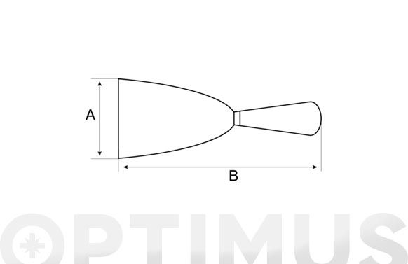 Espatula mango plastico 100 mm