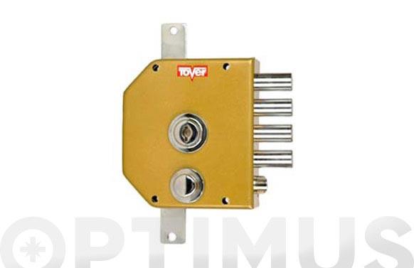 Cerradura sobreponer con varillas golpe y llave 60/d esmaltada oro