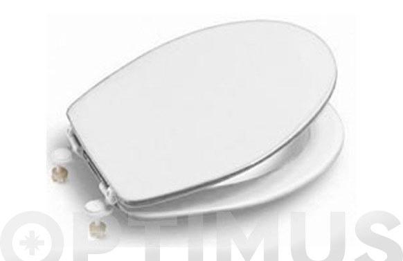 Tapa wc magnum blanca bisagra plastico
