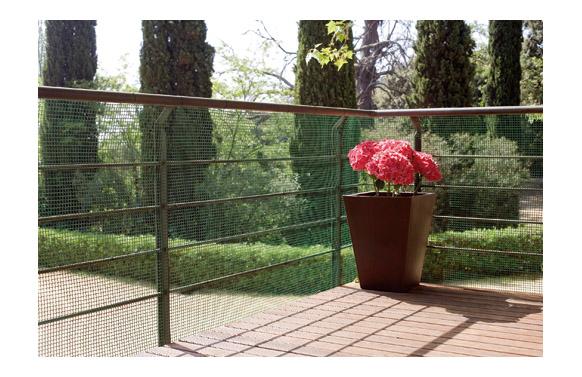 Malla cuadranet premium (malla 20x20mm) 400gr/m2 1 x 25 m verde