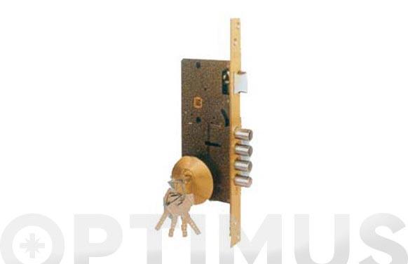 Cerradura seguridad laton golpe y llave 700b/50-ds15/70d