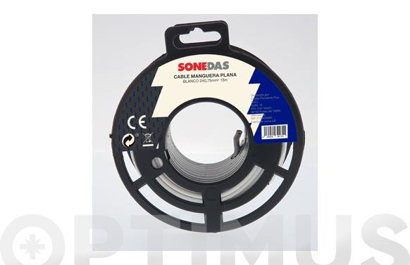 Cable manguera redonda blanco 2 x 1,5 15 m