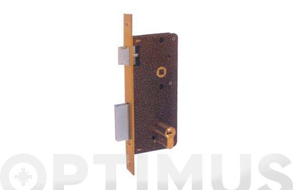 Cerradura seguridad laton paleton golpe y llave 720/60-ds15/70d