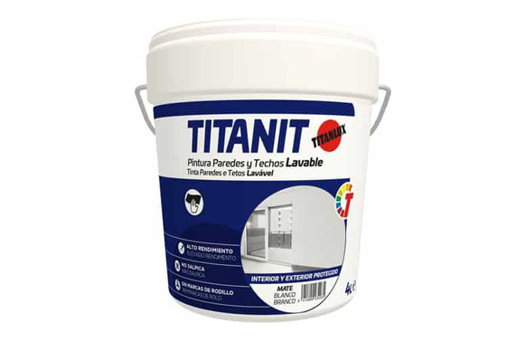 Pintura plastica interior titanit 750 ml blanco mate
