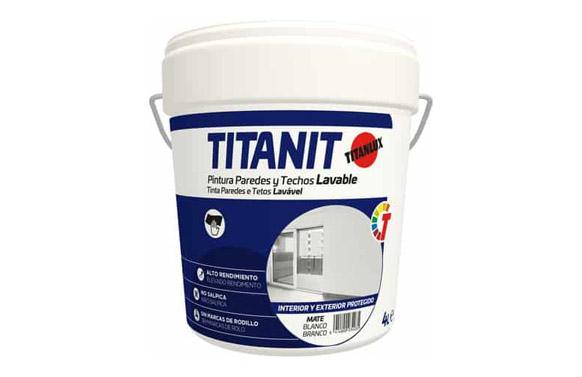 Pintura plastica interior titanit 4 l blanco mate