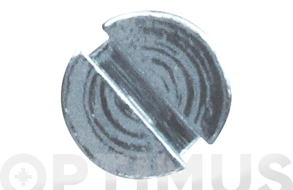 Tornillo din 963 cabeza plana cincado m-6 x 10 mm