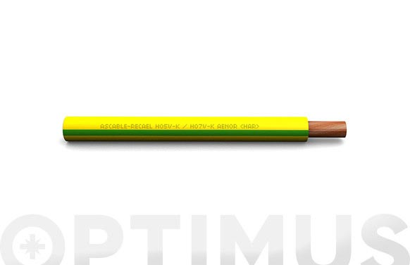 Cable conexion h07v-k cpr 1 x 1,5 amarillo / verde