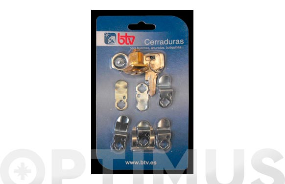 Cerradura para buzon kit-2 dorado