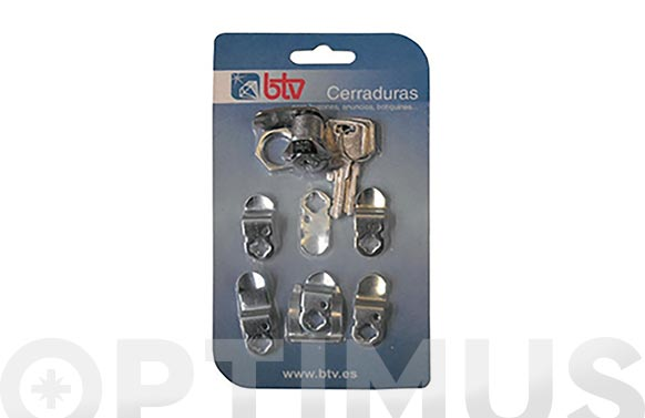 Cerradura para buzon cartero kit-1 cromo