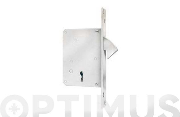 Cerradura puerta corredera 105-30 mm laton