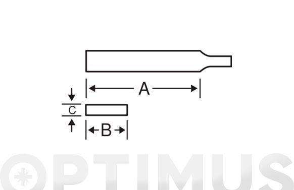 Lima plana mango bimaterial entrefina 200 mm 1-100/e-8