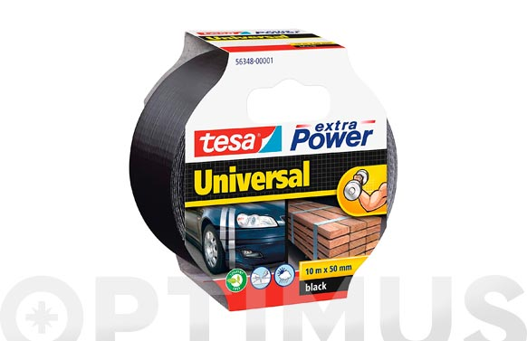 Cinta americana extra power negro 10 m x 50 mm