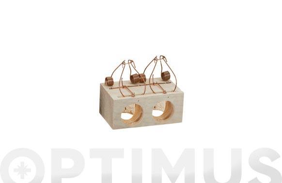 Ratonera madera 2 agujeros ø 37 mm