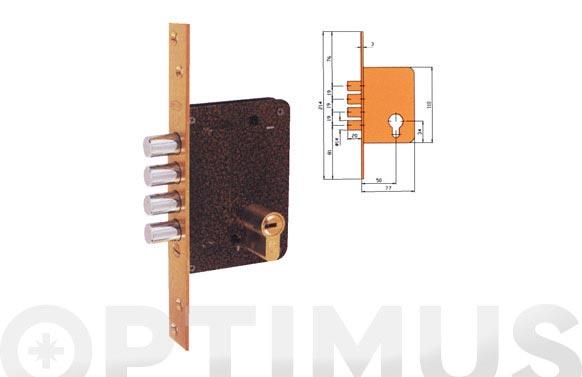 Cerradura seguridad laton llave sola 701b/50-ds15/70d