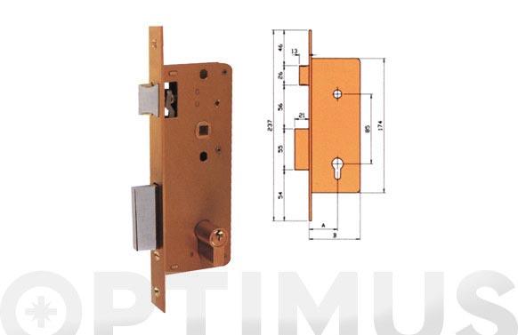 Cerradura embutir madera golpe y llave 4000-hl/174x35