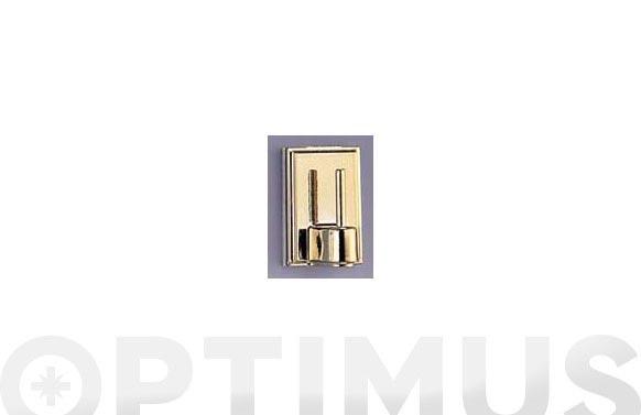 Colgador adhesivo dorado 4 unidades