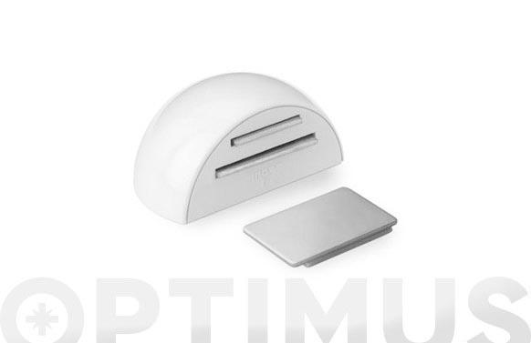Retenedor adhesivo magnetico blanco