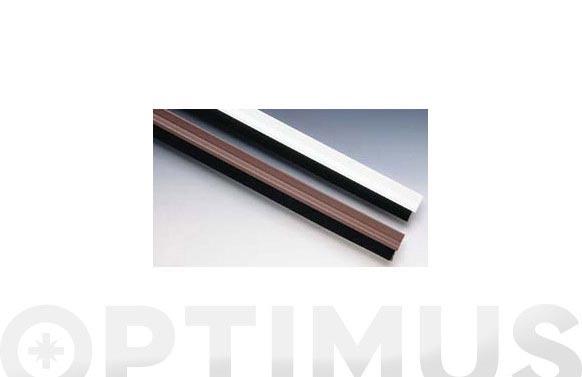Burlete bajo puerta pvc/cepillo adhesivo 90 cm marron