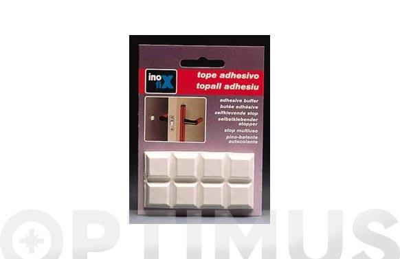Tope multiuso adhesivo 16 x 16 blanco