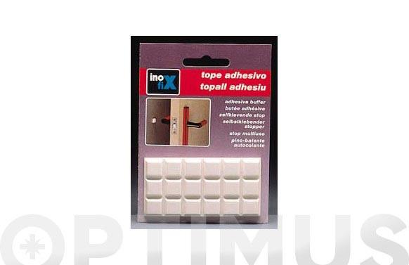 Tope multiuso adhesivo 12 x 12 blanco