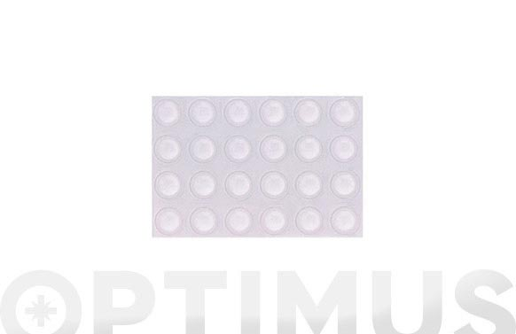 Gota transparente adhesiva 8 mm