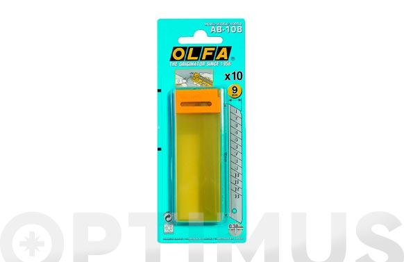 Cuchilla cuter 9 mm ab-10b (10 unid)