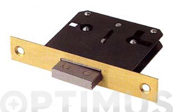 Cerradura embutir para mueble frente laton 200/30 llave zamac a35