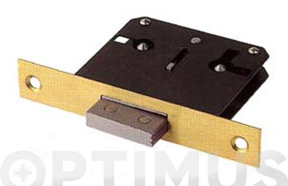 Cerradura embutir para mueble frente laton 205/35 llave laton a35