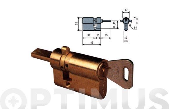 Cilindro 542 laton llave serreta 35,5-14,5