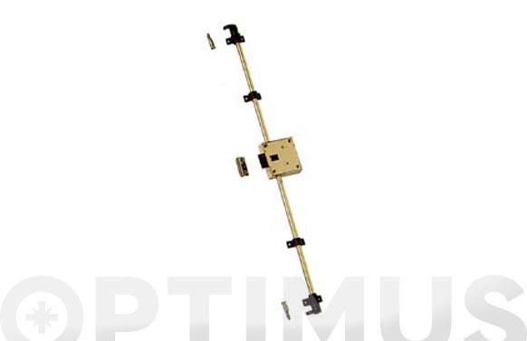 Cerradura falleba metalica c/accesorios s/varillas 1500 latonada llave laton a42