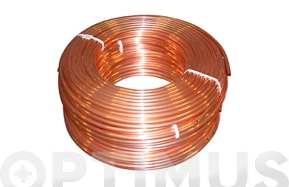 Tubo cobre en rollo 50 mts 8 x 10