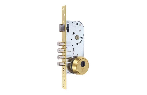 Cerradura seguridad embutir r200b/30-40 latonada