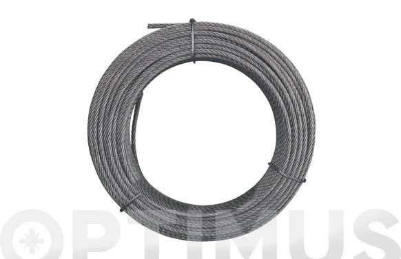 Cable acero galvanizado rollo 15 m ø 2 (6 x 7) +1 alma textil