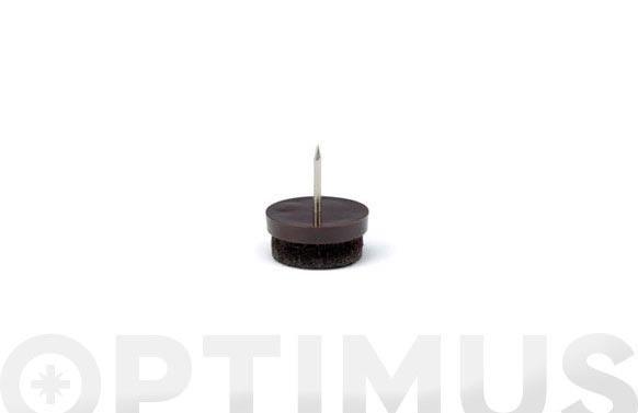 Patin para patas mueble ( ø 20 mm marron 8 unidades