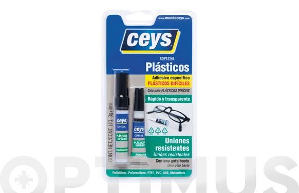 Adhesivo reparador plasticos dificiles 3 gr + 4 ml