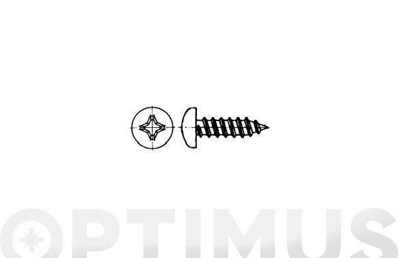 Tornillo parker din 7981 c/alomada philips inox a2 4.2- 8x 1/2