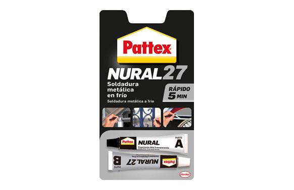 Adhesivo soldadura metal en frio rapida pattex nural 27 22 ml