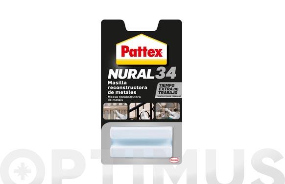 Masilla reparacion nural 34 metales 50 gr gris