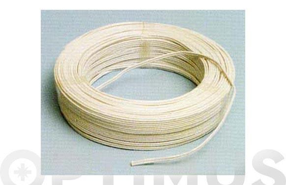 Cable audio blanco/gris 2x0,75