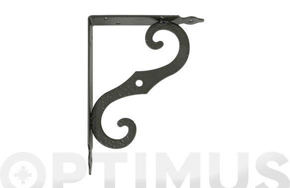 Escuadra soporte ornamental modelo 2 negro 200 x 150 mm
