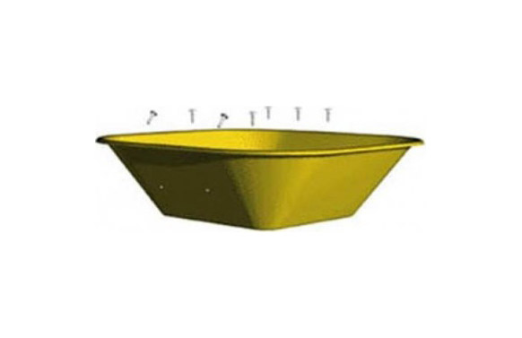 Bandeja carretilla obras pintada se/550-amarilla