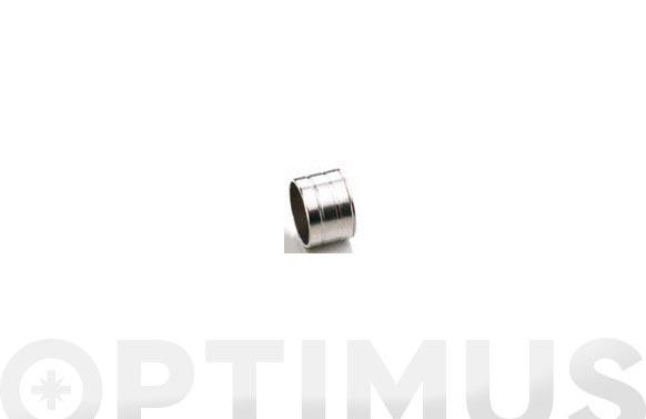 Casquillo tubo armario lateral niquel 19 mm