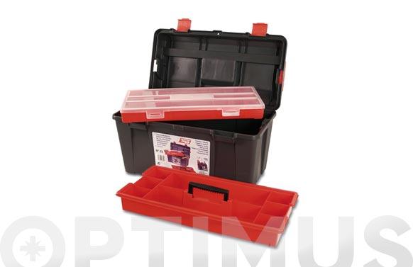 Caja herramientas polipropileno n 33 gris 480 x 258 x 255 mm 1 bandeja 1 estuche